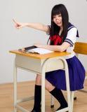Asian girl student in school uniform Stock Image