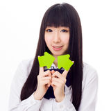 Asian girl student in school uniform Royalty Free Stock Images