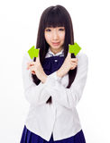 Asian girl student in school uniform Stock Photos