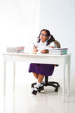 Asian Girl student  studying  and in class room Royalty Free Stock Images