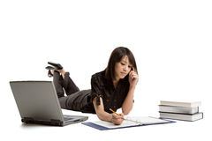 asian girl studying Στοκ Εικόνες
