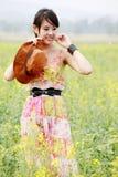 Asian girl in summer Stock Photos