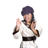 Asian girl in surprise gesture Royalty Free Stock Images