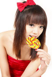 Asian girl with sweet candy Stock Photo