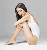 Asian Girl Swimsuit royalty free stock image