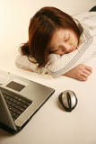Asian girl taking a nap Stock Photography