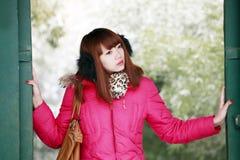 Asian girl thinking Stock Photo