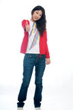 Asian girl thumbs up Royalty Free Stock Photography