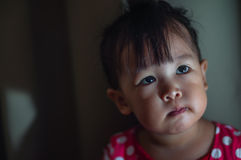 Asian girl toddler with available light. This malay girl toddler from malaysia stock images