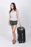 Asian girl in travel concept Royalty Free Stock Image