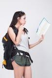 Asian girl in travel concept Stock Photos