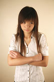 Asian girl unhappy Royalty Free Stock Photography
