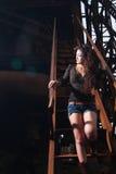 Asian girl in urban landscape Royalty Free Stock Photos