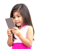 Asian girl use mobile Royalty Free Stock Images