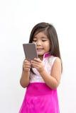 Asian girl use mobile Stock Image