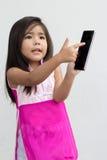 Asian girl use mobile Stock Photos