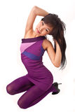Asian girl in violet dress Stock Photography