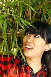 An asian girl who is smiling Royalty Free Stock Photo
