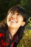Asian girl who is smiling Royalty Free Stock Photo
