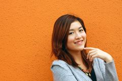 An asian girl who is smiling Stock Photos