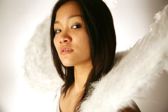 Asian girl with wings Stock Photos