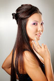 Asian Girl With Hairstyle Stock Photo