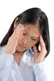 Asian Girl7. Stressed out asian woman royalty free stock photos