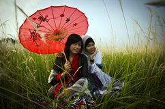 The Asian girls Stock Images