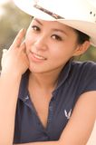 Asian girls. A Pretty asian girls outdoor.High quality,retouch face and body Royalty Free Stock Image