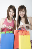 Asian girls shopping Stock Photography