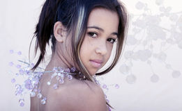 Asian glamor. Ous girl Royalty Free Stock Photography
