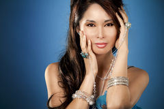 Asian glamour woman Stock Image
