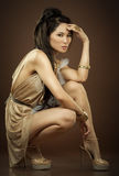 Asian glamour woman Stock Photos