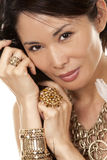 Asian glamour woman Stock Images