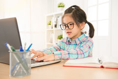 Asian glasses elementary school student Royalty Free Stock Images
