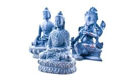 Asian gods statues  Royalty Free Stock Images