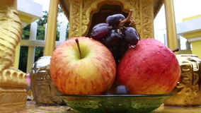 Asian Gold Spirit House - ECU fruit offerings then pull out stock video footage