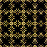 Asian golden pattern on black Stock Photo