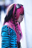 Asian goth lolita. Young asian sad girl with cosplay looking stock images