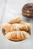 Asian gourmet pan fried dumplings Stock Photos