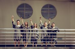 Asian Graduation group 4 Royalty Free Stock Images