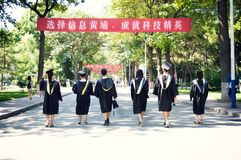 Asian Graduation group 6. Happy group of students in their graduation smiling royalty free stock photos
