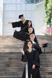 Asian Graduation group 8 Royalty Free Stock Photo