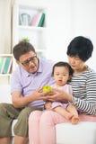 Asian grand parents Royalty Free Stock Photos