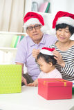 Asian grand parents with grand daugther Royalty Free Stock Image