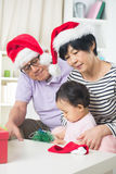 Asian grand parents with grand daugther Royalty Free Stock Photography