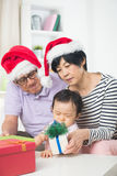 Asian grand parents with grand daugther Royalty Free Stock Photos
