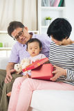 Asian grand parents with grand daugther Stock Photography