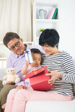 Asian grand parents with grand daugther Stock Image