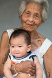 Asian Grandmother with baby Royalty Free Stock Image